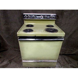 Avocado Green Electric Stove 30""