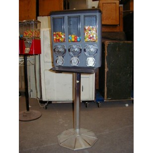 Triple Crown Gumball Machine on Stand