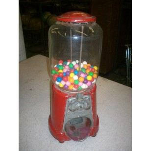 Vintage Red Gumball Machine