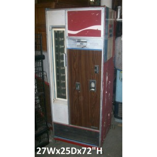 Wood Grain Soda Bottle Vending Machine 65 Cents