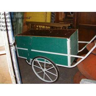 Vendor Push Cart Green/White