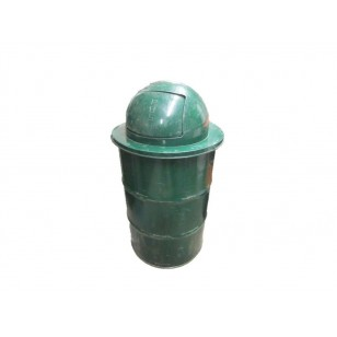 Domed Waste Receptacle on 55 Gal Drum