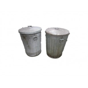 30 Gal Galvanized Waste Receptacles