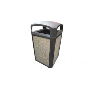 Pebble Sided  Waste Receptacle